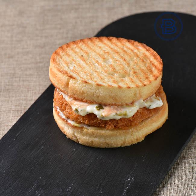 虾排堡三明治